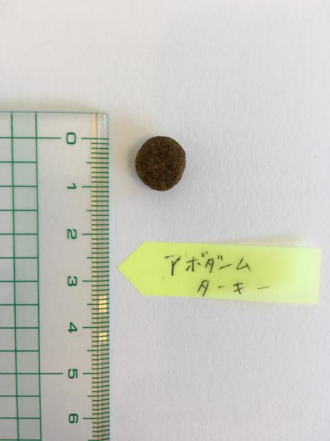 アボダーム ターキー粒の大きさ