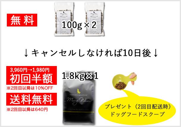 モグワン 100円 モニター 初回半額